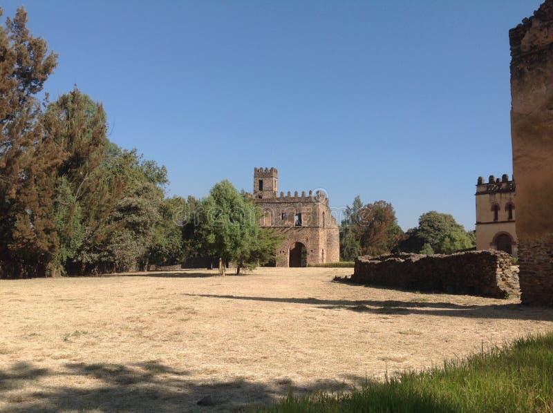 Castelo Gondar Etiópia de Fasil fotografia de stock