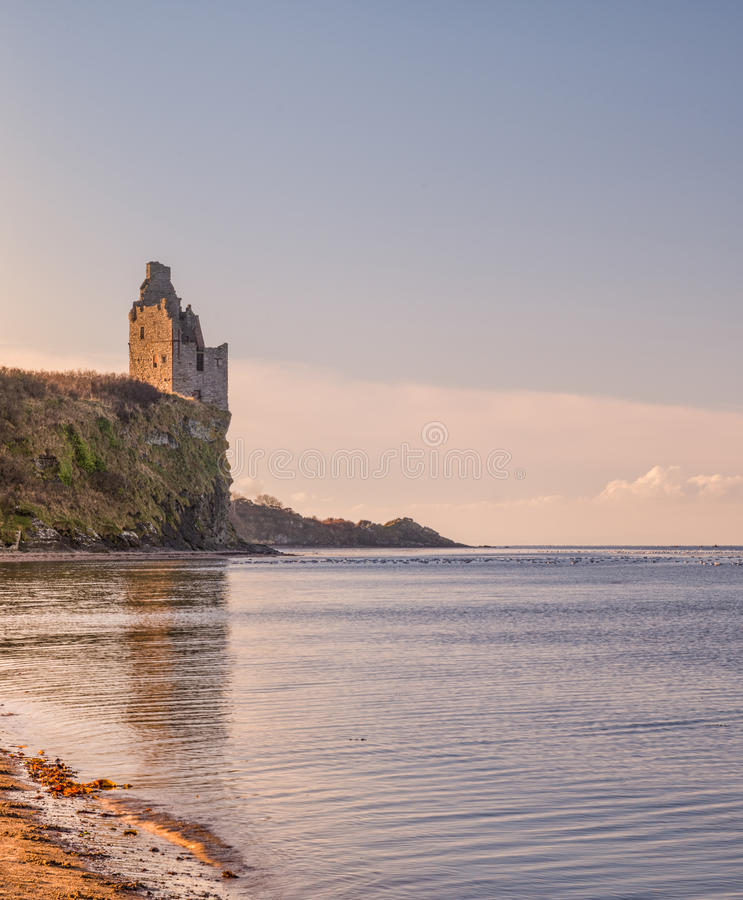 Castelo Greenan por Ayr fotos de stock royalty free