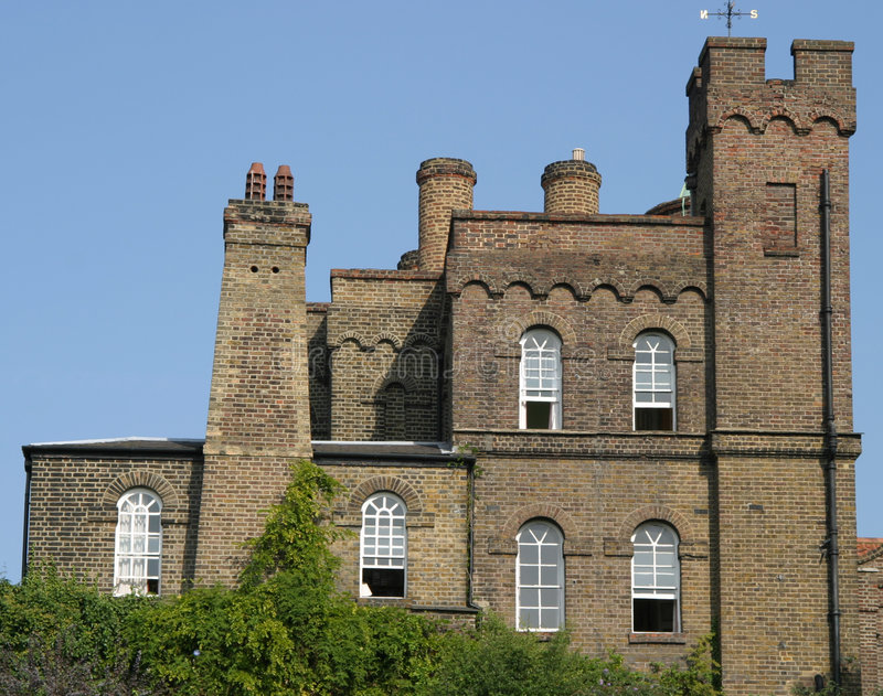 Castelo Greenwich de Vanbrugh fotografia de stock royalty free
