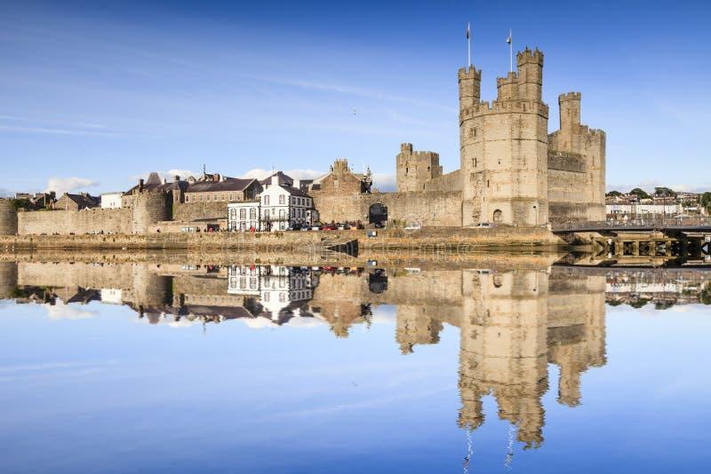 Castelo Gwynedd Gales norte Reino Unido de Caernarfon foto de stock royalty free