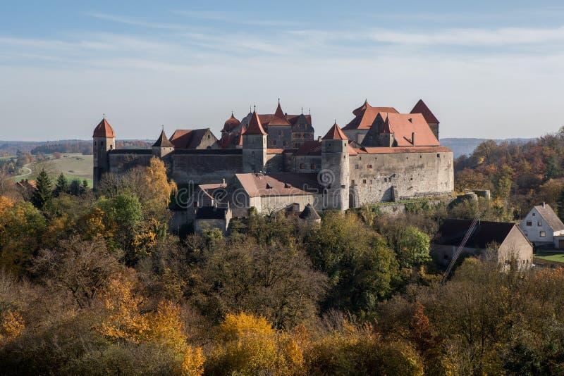 Castelo Harburg no bavaria, Alemanha imagem de stock