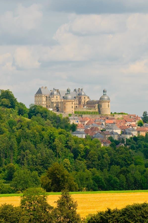 Castelo Hautefort, Dordogne, France imagens de stock