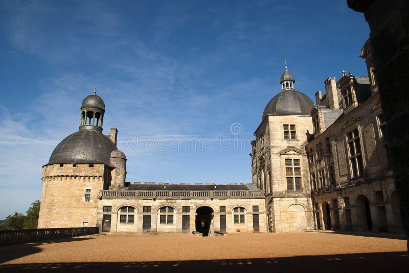 Castelo Hautefort Dordogne France imagens de stock