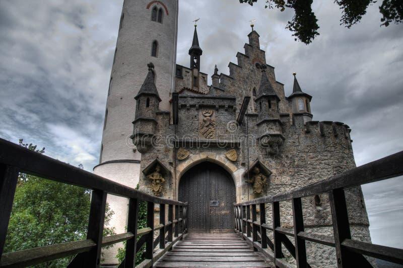 Castelo HDR de Lichtenstein fotos de stock royalty free