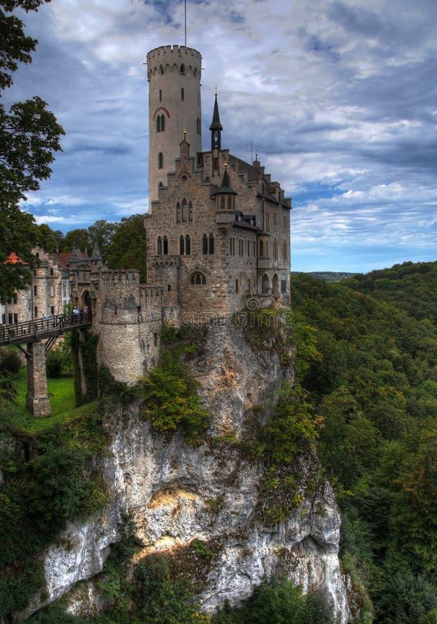 Castelo HDR de Lichtenstein imagens de stock royalty free