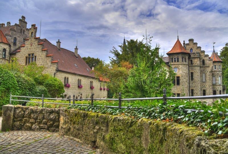 Castelo HDR de Lichtenstein imagem de stock royalty free