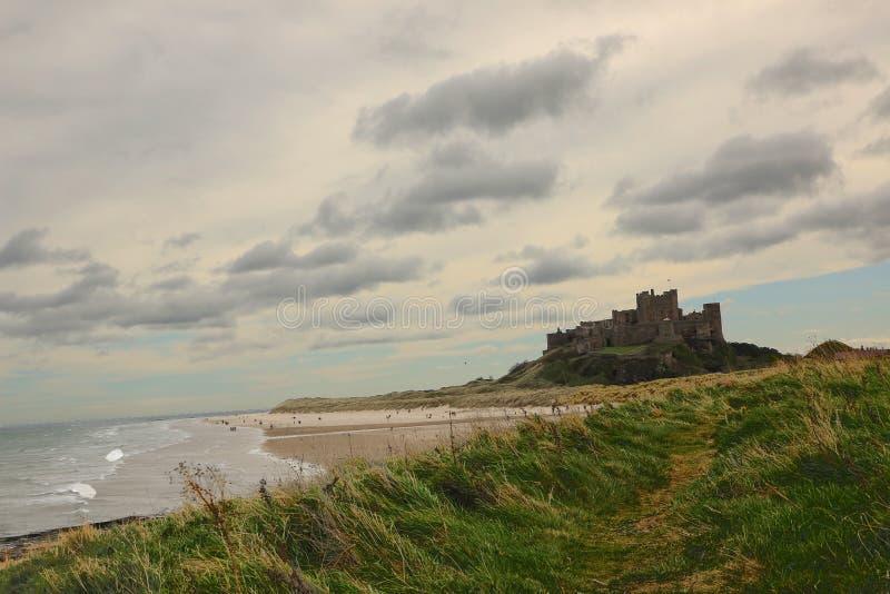 Castelo histórico de Bamburgh fotos de stock