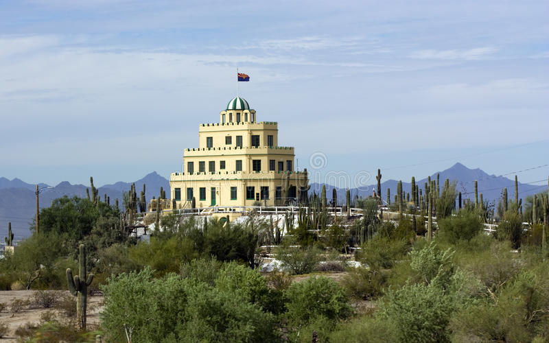 Castelo histórico de Tovrea, Phoenix AZ imagens de stock