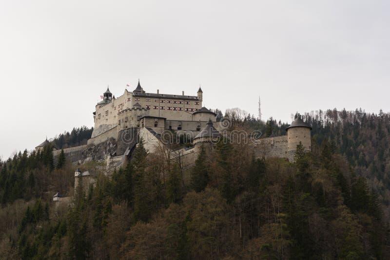 Castelo Hohenwerfen - Áustria fotografia de stock