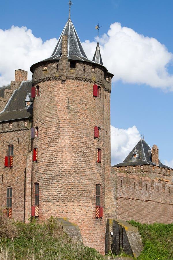 Castelo holandês Muiderslot fotos de stock royalty free