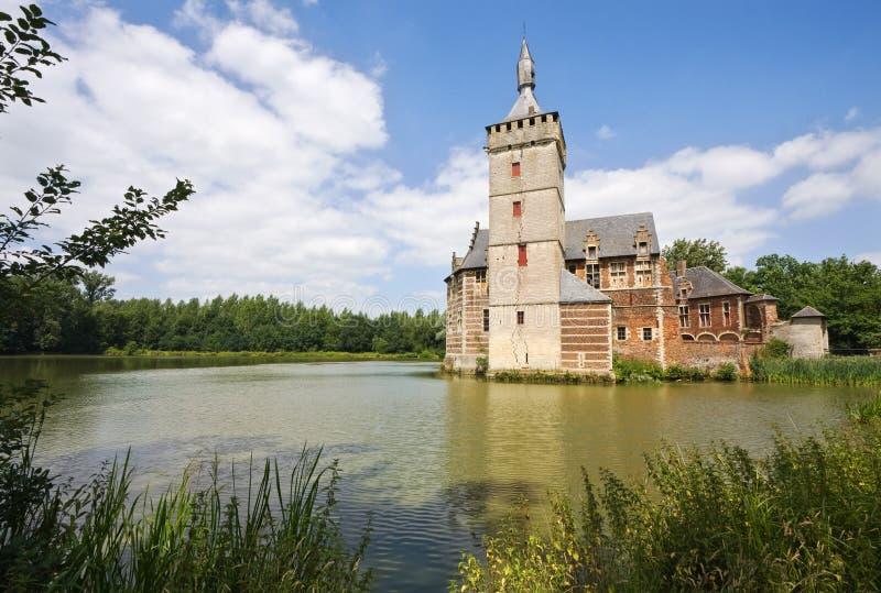 Castelo Horst em Bélgica imagens de stock