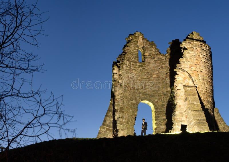 Castelo iluminado foto de stock
