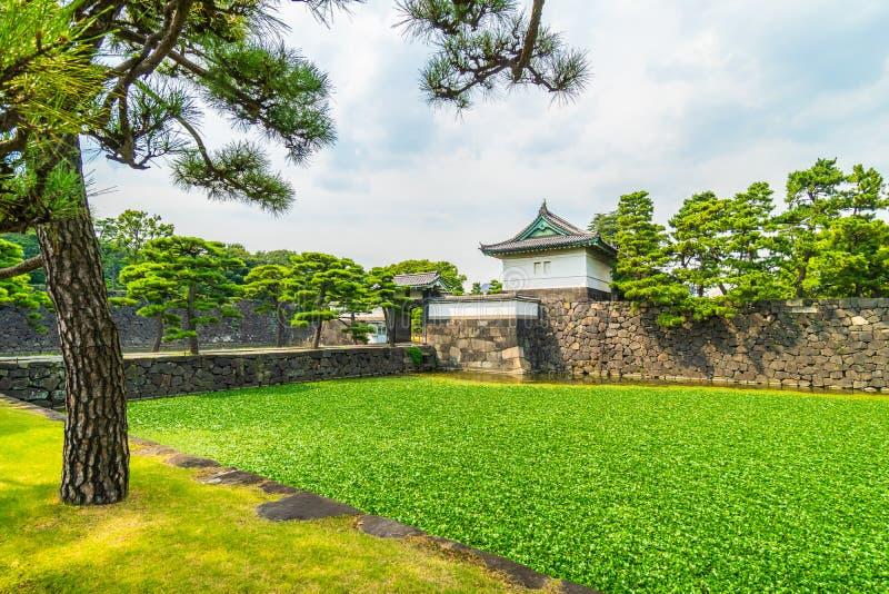 Castelo imperial do palácio da arquitetura velha bonita com fosso e imagens de stock royalty free