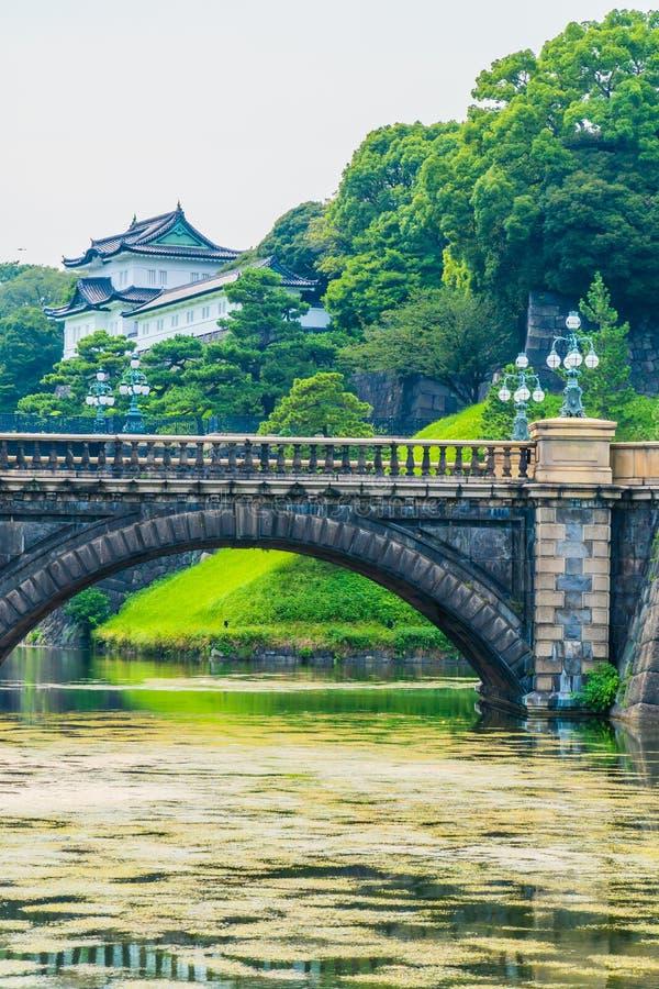 Castelo imperial do palácio da arquitetura velha bonita com fosso e imagens de stock