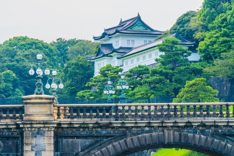 Castelo imperial do palácio da arquitetura velha bonita com fosso e imagem de stock