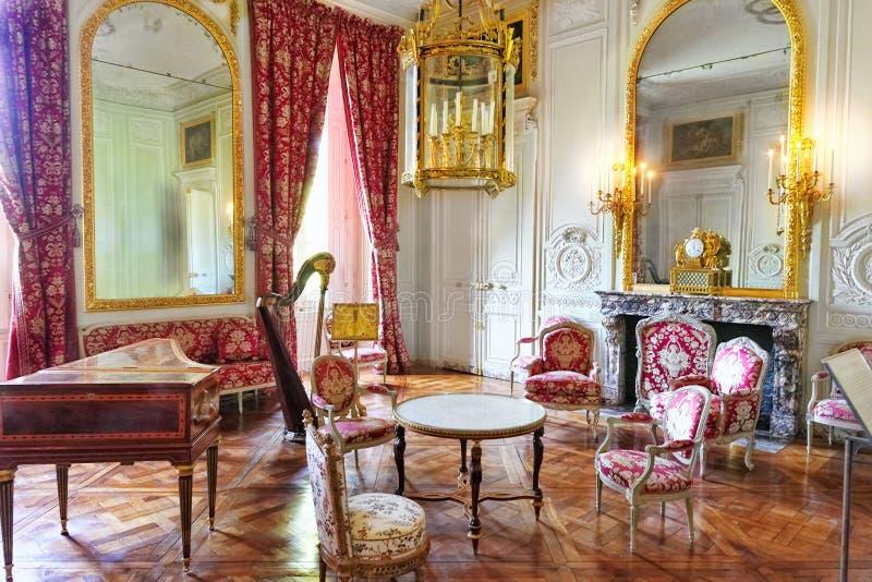 Castelo interior de Versalhes, Paris, França. imagens de stock