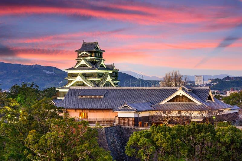 Castelo Japão de Kumamoto fotos de stock royalty free
