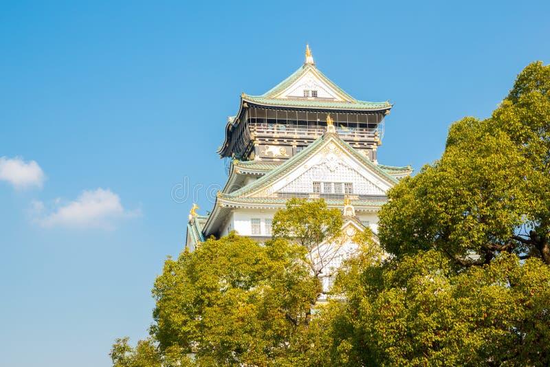 Castelo Japão de Osaka foto de stock