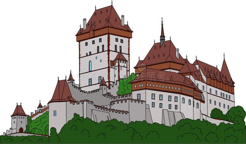 Castelo Karlstein ilustração do vetor