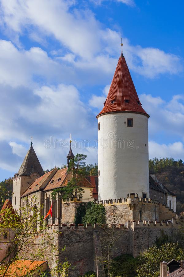 Castelo Krivoklat na república checa imagens de stock
