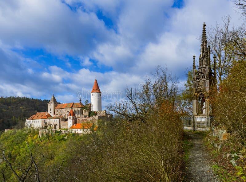 Castelo Krivoklat na república checa foto de stock