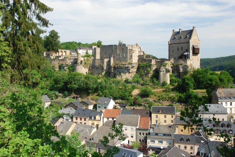 Castelo Larochette - Larochette - Luxembourg fotos de stock royalty free