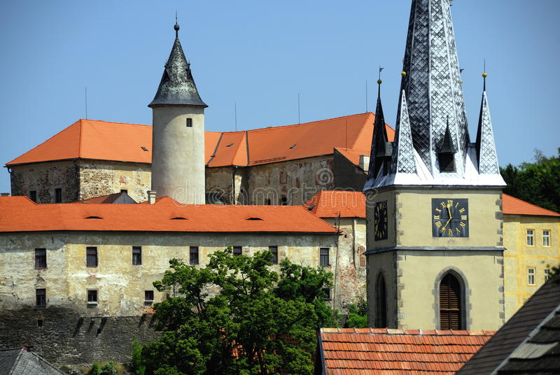 Castelo Ledec nad Sazavou fotos de stock royalty free