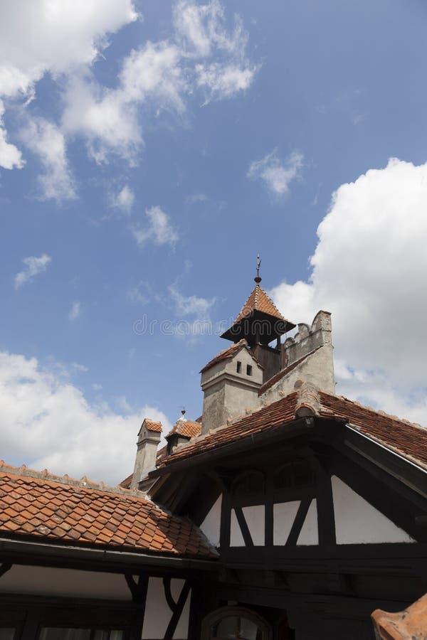 Castelo legendário, residência de Dracula na Transilvânia, Romênia foto de stock royalty free