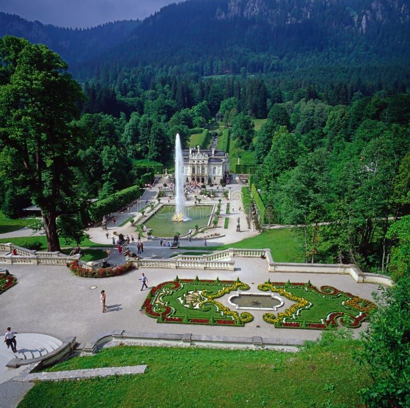 Castelo Linderhof imagem de stock royalty free