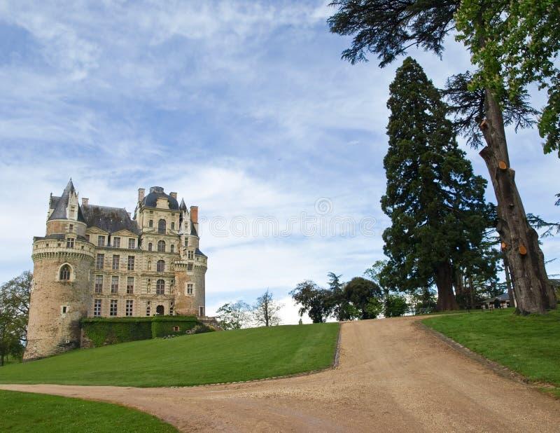 Castelo majestoso de Brissac fotografia de stock