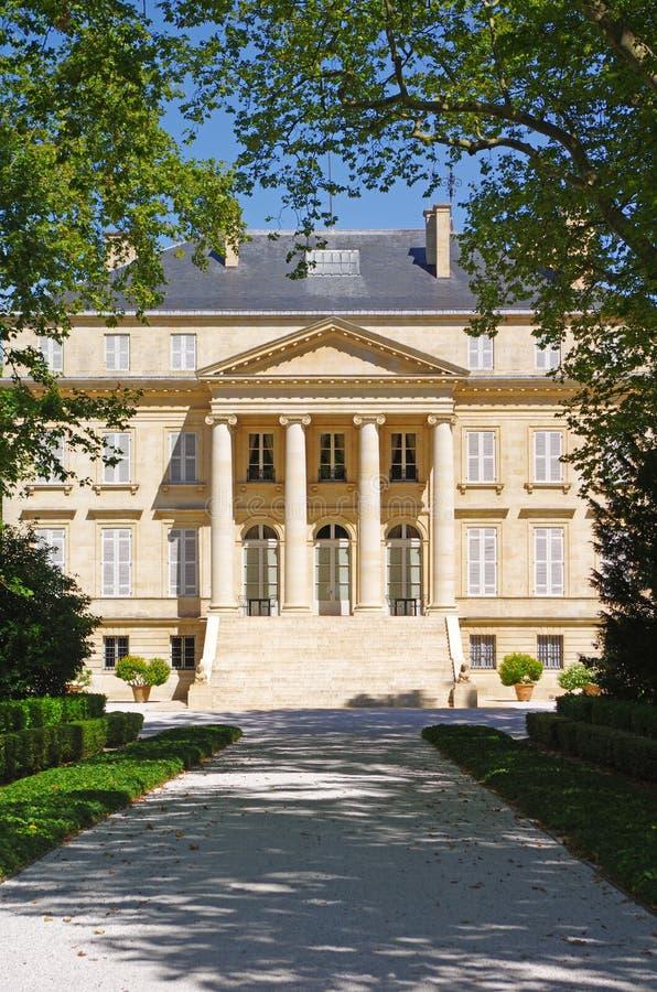 Castelo Margaux, medoc, Bordéus, france imagem de stock