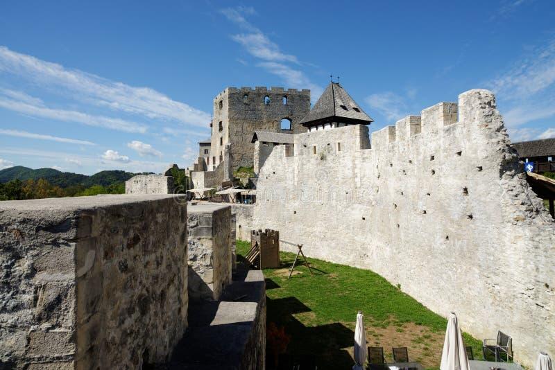 Castelo medieval de Celje em Eslovênia fotos de stock