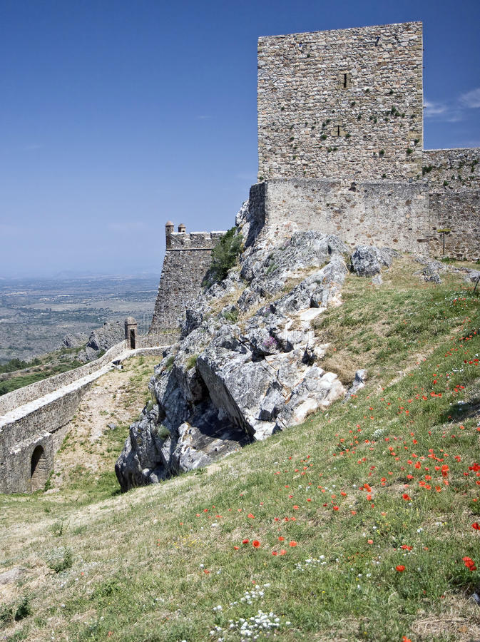 Castelo medieval de Marvao, Portugal fotos de stock royalty free