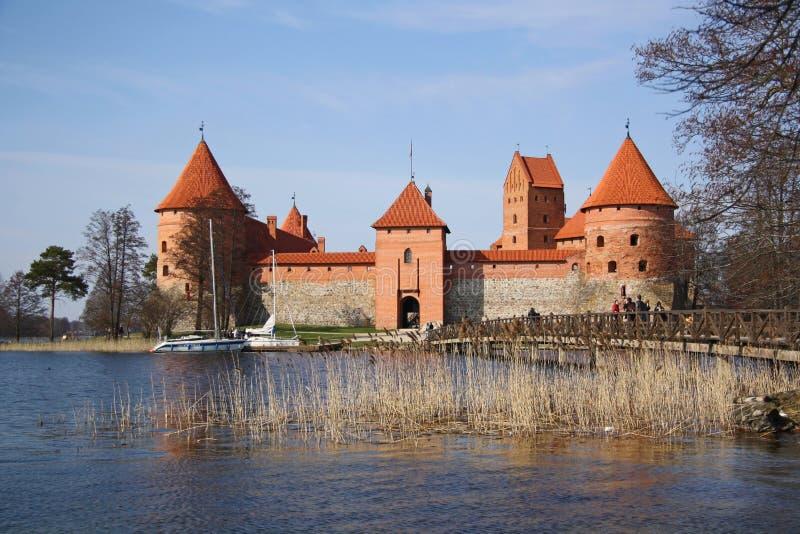 Castelo medieval de Trakai (Lithuania) imagens de stock