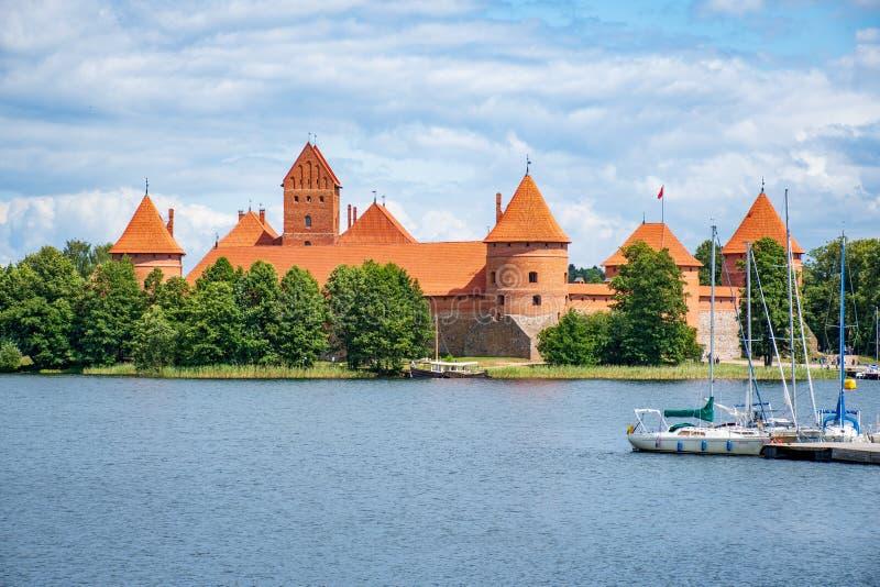 Castelo medieval de Trakai, Vilnius, Litu?nia fotografia de stock royalty free