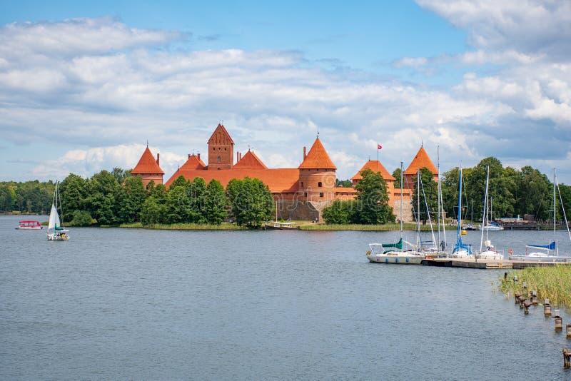 Castelo medieval de Trakai, Vilnius, Litu?nia imagem de stock