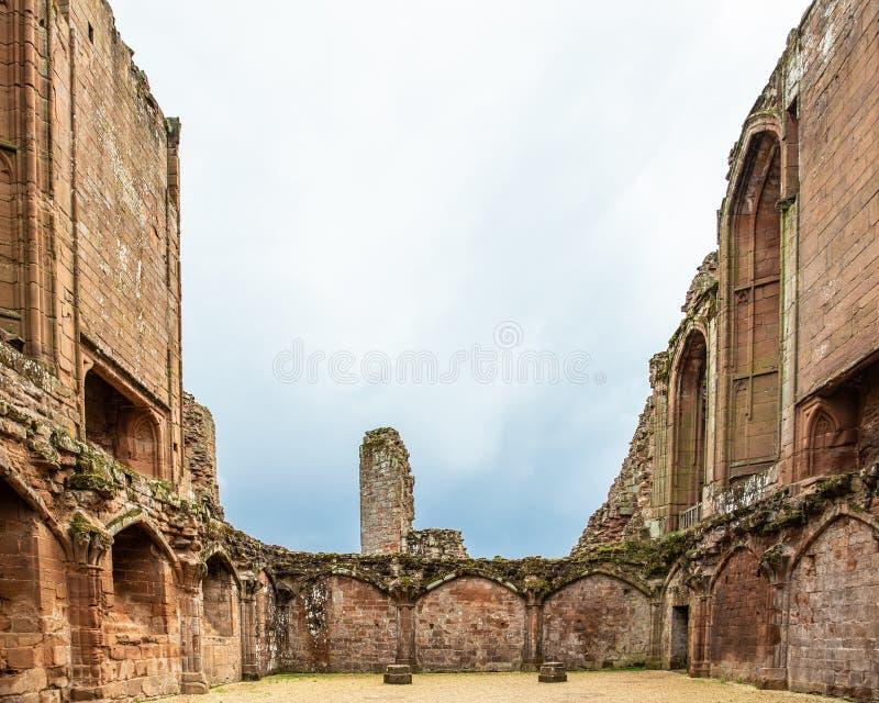 Castelo medieval do castelo Reino Unido de Kenilworth fotografia de stock
