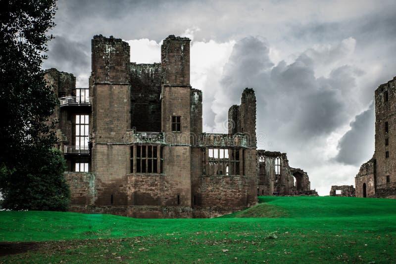 Castelo medieval do castelo Reino Unido de Kenilworth imagens de stock