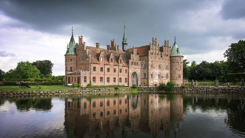 Castelo medieval em Dinamarca foto de stock royalty free