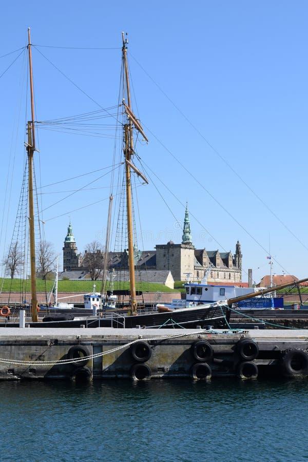 Castelo medieval em Dinamarca fotografia de stock