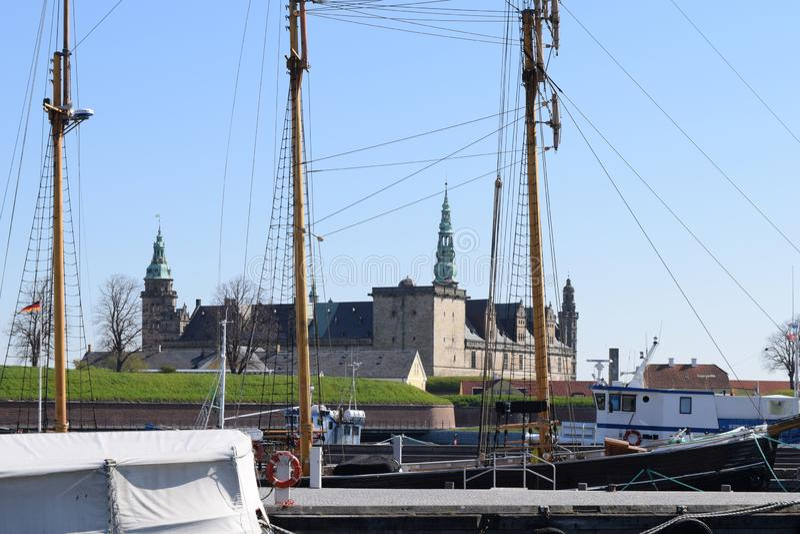 Castelo medieval em Dinamarca foto de stock