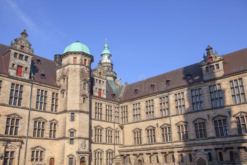 Castelo medieval em Helsingor imagem de stock royalty free