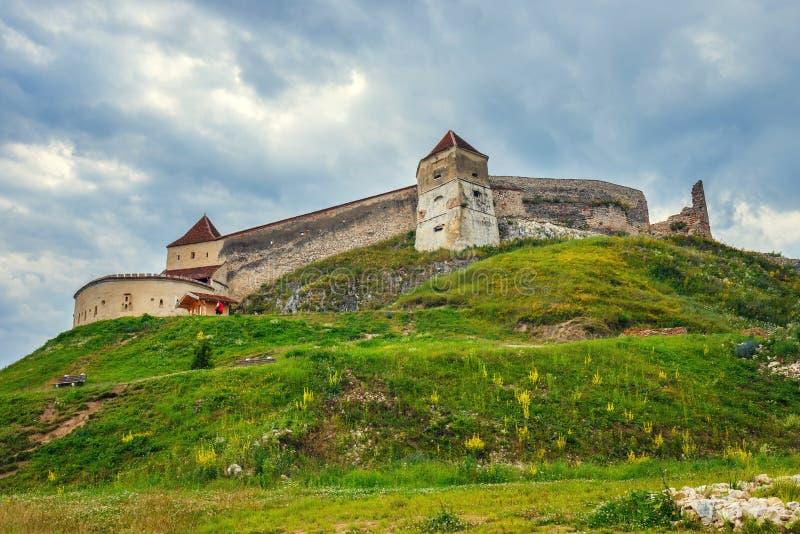 Castelo medieval em Rasnov, Romênia fotos de stock