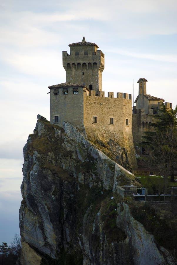Castelo medieval em San Marino fotografia de stock royalty free