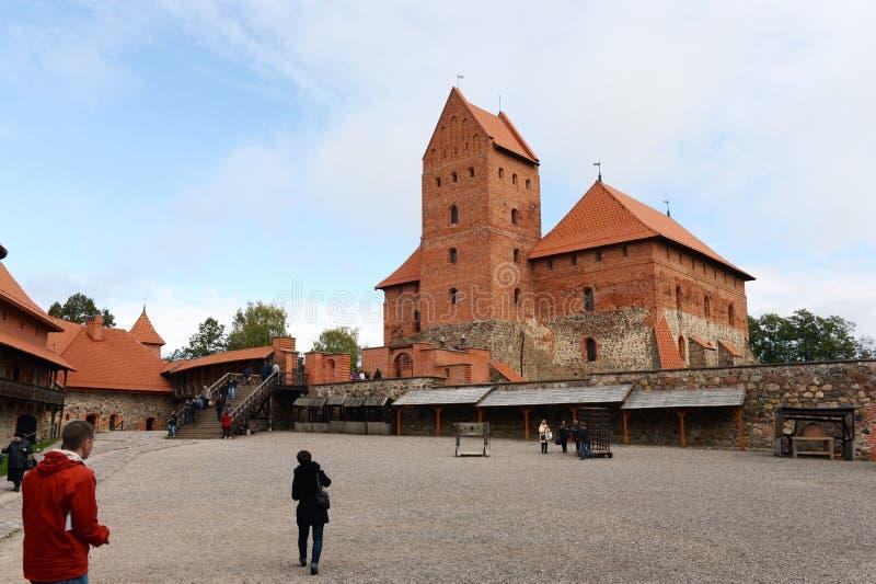 Castelo medieval em Trakai foto de stock