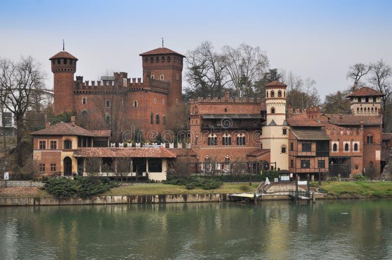 Castelo medieval em Turin imagens de stock