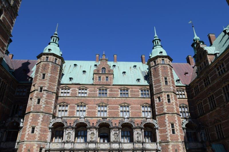 Castelo medieval frederiksborg Dinamarca fotografia de stock royalty free