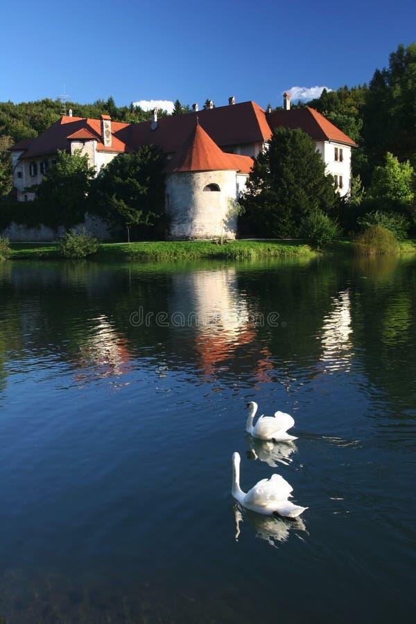 Castelo medieval Otocec fotografia de stock
