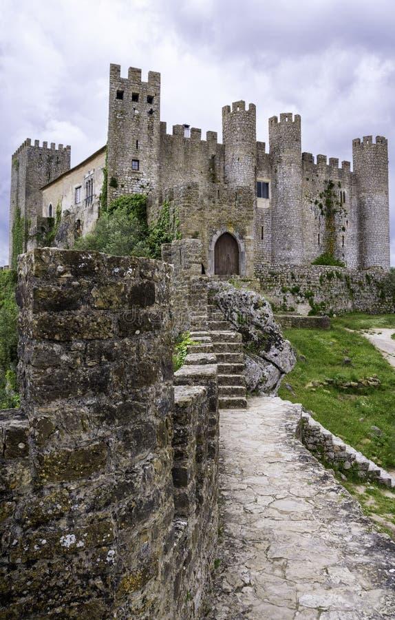 Castelo medieval, Portugal fotografia de stock