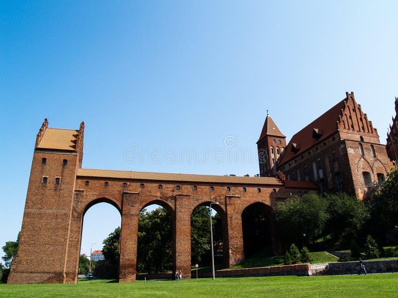 Castelo medival velho em Kwidzyn, Poland foto de stock